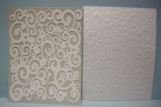 Paper Pulse Blog Spot: Silhouette Made Embossing Folders - cut pattern in cardboard, use flexible mat & run through press