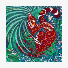 Jaguar Quetzal scarf 90 - front