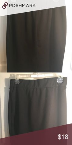 Knee-Length Black Skirt Beautiful chic knee length skirt that can turn any dinner, into a party. Is styled beautifully and is comfortably fitted. Thank you for viewing my listing and if you would like any specific pictures please message me privately 😊 ECI Skirts Pencil