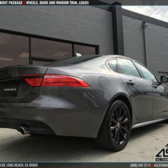 Gray Jaguar XF with Blackout Package - Newport Beach Jaguar