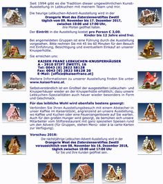 Informationen zur Aussstellung Gingerbread