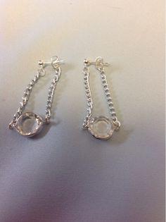 Undeniable Glitter: Silver Drop Earrings
