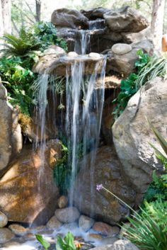 how to design & build a landscape waterfall
