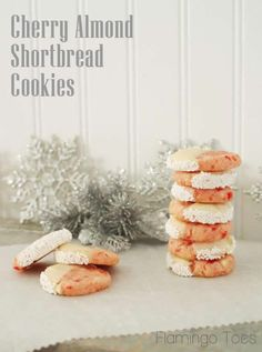 Cherry Almond Shortbread Cookies - yum yum!