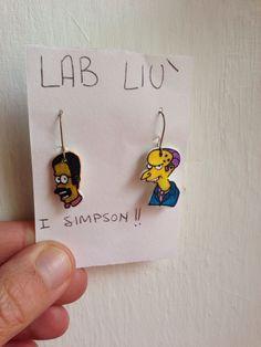 #Orecchini pendenti in #polyshrink #simpson di #LabLiu su #Etsy
