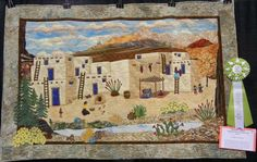 """Utah Quilt Guild: Photo Gallery: Best Pictorial Quilt - """"Indian Pueblo Reflection from Past"""""""