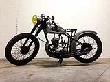 Rad and old motorcycles built by a woman | Peugeot 150cc 1954
