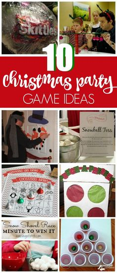 10 Christmas Party Game Ideas that are a blast for the whole family on prettymyparty.com.