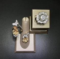Two things a woman loves, flowers and diamonds!