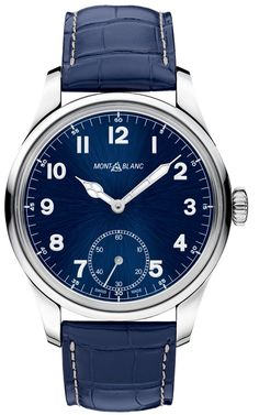 Montblanc 1858 Small Second Blue 113702