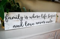 Cute! Large Family Sign, Wood Pallet Sign Inspirational by JoaniesFavoriteThing