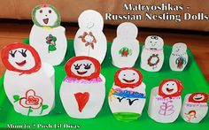 Explore Russian culture by making Matryoshkas (Nesting Dolls) out of paper. Kids will love being able to design their own dolls as they learn about a different culture.