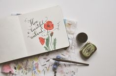 by the lovely Oana Befort / art / calligraphy / watercolour