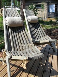 Diy Furniture Decor, Log Furniture, Upcycled Furniture, Furniture Making, Garden Furniture, Outdoor Furniture, Adirondack Chairs, Outdoor Chairs, Outdoor Decor