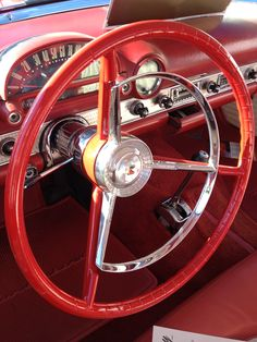 Interiors of vintage cars #vintage #cars #wheels Re-pinned by VintageTravel.co.nz