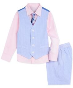 cb6b627b9 Nautica Little Boys 4-Pc. Seersucker Vest