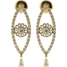 Cadar Reflection Diamond Earrings ($19,800) ❤ liked on Polyvore featuring jewelry, earrings, 18 karat gold jewelry, diamond earring jewelry, diamond earrings, 18k jewelry and 18k earrings
