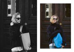 I was wearing:  Céline Knit Céline sunglasses Céline Twisted Cabas bag