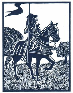 VICTORY Knight linocut by Lev by WingedLion on Etsy https://www.etsy.com/listing/109733907/victory-knight-linocut-by-lev