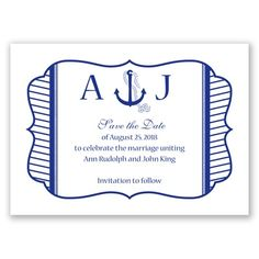 Nautical Nuptials - Save the Date