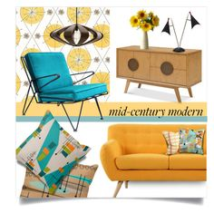 """""""atomic lounge"""" by collagette ❤ liked on Polyvore featuring interior, interiors, interior design, home, home decor, interior decorating, Madison, Arteriors, Adesso and bunglo by shay spaniola"""