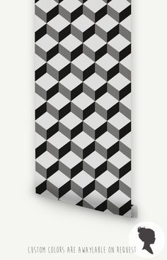 Self Adhesive Cube Pattern Removable Wallpaper Z014 by Livettes