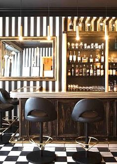 Have you ever made a reservation at a bar or brasserie just to see the interior design? Hotel Restaurant, Restaurant Chairs, Restaurant Design, Modern Restaurant, Shabby Chic Kitchen Chairs, Shabby Chic Cafe, Bar Interior, Interior Exterior, Modern Interior Design