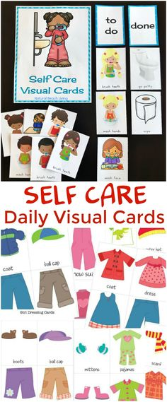 Self Care Routine Daily Visual Cards, HELP YOUR CHILD GAIN CONFIDENCE AND INDEPENDENCE WITH SELF CARE ROUTINE VISUAL CARDS, Daily Visual Schedule, Routine Visual Schedule, Bathroom Visual Cards, Autism, Dressing Cards and Labels, Picture Cards for Kids #autism #routine #preschool