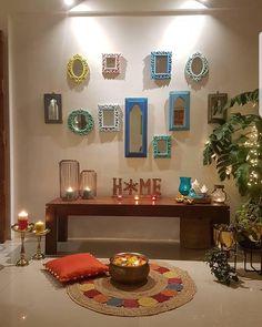 Foyer Wall Decor, Home Entrance Decor, Home Decor Shelves, Indian Bedroom Decor, Ethnic Home Decor, Boho Decor, Decor Home Living Room, Home Decor Furniture, Home Room Design