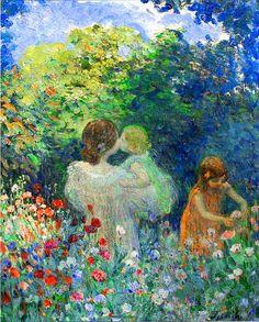 Henri Lebasque   In the Flowers, 1903