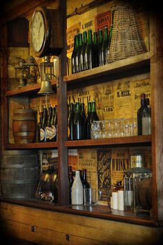 shelves in a historic village tavern | home decor + decorating ideas