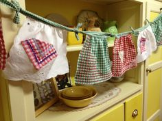 Baby apron bunting.