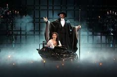 "A scene from ""The Phantom of the Opera"" - The Phantom takes Christine to his lair beneath the opera house"