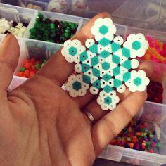 Snowflake hama beads by idios.synkrasis