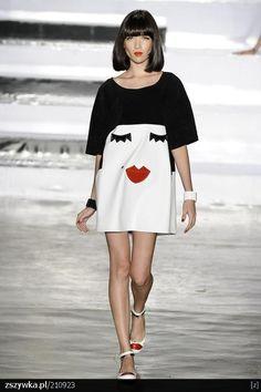 red lips# dress#