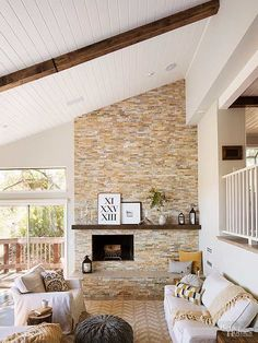 We'll show you how to make wood beams from inexpensive lightweight boards that look just like reclaimed timber. We'll show you how to make wood beams from inexpensive lightweight boards that look just like reclaimed timber. Wood Plank Ceiling, Wood Ceilings, Ceiling Beams, Vaulted Ceilings, Living Room Vaulted Ceiling, Painted Wood Ceiling, Home Design, Design Ideas, Faux Wood Beams