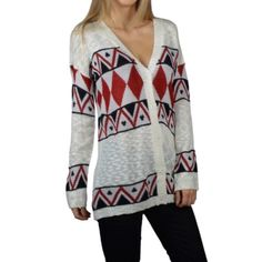 Full sleeves abstract print sweater Aztec print front open cardigan . Other color and size also available . ❌No PayPal or trades . Sweaters Cardigans