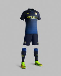 Manchester City and Nike Unveil Away Kit for 2014-15 Season New away kit celebrates club's blue pride.