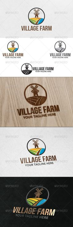 Agro Farm - Logo Template  #GraphicRiver         100% Vector  File Format : EPS   Color Mode : CMYK   Font used : Bebas Neue  Download Link :  .fontsquirrel /fonts/bebas-neue                      Created: 10 December 13                    Graphics Files Included:   Vector EPS                   Layered:   No                   Minimum Adobe CS Version:   CS
