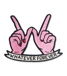 WHATEVER FOREVER iron-on patch – SARA M. LYONS