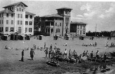 Foto storica con i primo Hotel inizio '900 di Lignano Sabbiadoro