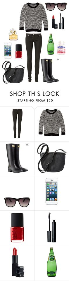 """""""Black"""" by hrnmnk ❤ liked on Polyvore featuring sass & bide, DKNY, Merona, MANGO, Vincent Longo, NARS Cosmetics and Marc Jacobs"""