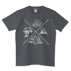 SURF ILLUST(白) | デザインTシャツ通販 T-SHIRTS TRINITY(Tシャツトリニティ)