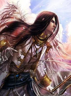 "Fantasy Men with Long Hair | character in "" Galaoa: The Tangled Red Threads of Fate "", as ..."