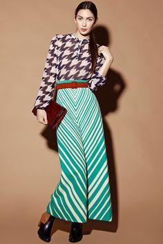Vintage 70s Chevron Striped Maxi Skirt http://thriftedandmodern.com/vintage-70s-striped-chevron-maxi-skirt