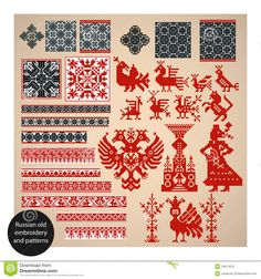 Russian Old Embroidery And Patterns - Download From Over 63 Million High Quality Stock Photos, Images, Vectors. Sign up for FREE today. Image: 19971670