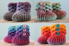 Crocodile Stitch Booties  Crochet Baby Booties  by livinginivory, Too Precious!!!!