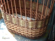 Поделка изделие Плетение И так продолжаем тему плетения обычной корзинки Трубочки бумажные фото 8