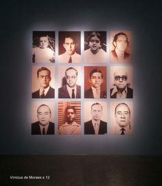 12 pictures of Vinicius de Moraes in CC Recoleta Ciudad de Buenos Aires, instalación homenaje.