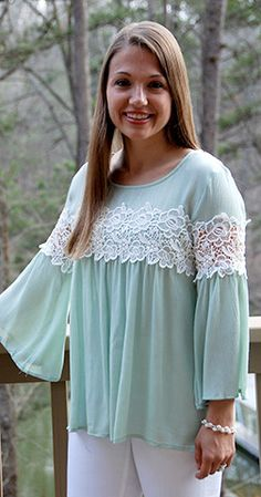 Amazing Graceful - Green Top – Johnnie Dove Boutique